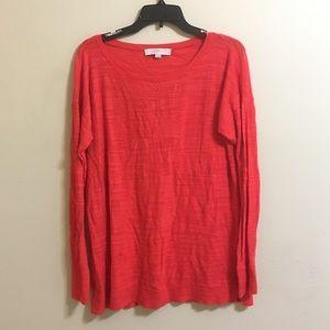 ☀️ LOFT • Coral Sweater